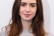 Lily Collins Layered Cut