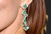 Zoey Deutch Dangling Gemstone Earrings