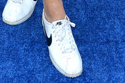 Emily Ratajkowski Leather Sneakers