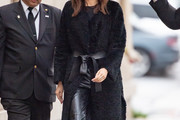 Gemma Chan Evening Coat