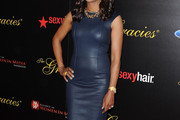 Aisha Tyler Leather Dress