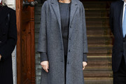 Queen Letizia of Spain Tweed Coat