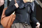Goldie Hawn Leather Hobo Bag
