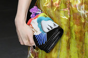 Lily Collins Printed Clutch