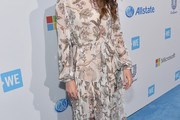 Nikki Reed Print Dress