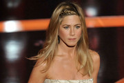 Jennifer Aniston Long Partially Braided
