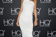 Alessandra Ambrosio One Shoulder Dress