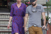 Katherine Heigl Print Dress