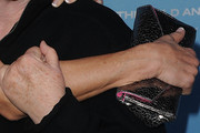 Katherine Kelly Lang Metallic Clutch