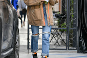 Hailey Baldwin Ripped Jeans