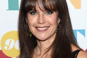 Kelly Preston Long Straight Cut with Bangs