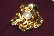 Laura Bush Gold Brooch