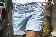 Zoe Saldana Denim Shorts