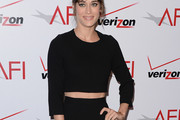 Lizzy Caplan Crop Top