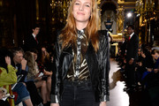 Josephine de La Baume Leather Jacket
