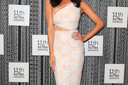 Megan Gale One Shoulder Dress