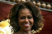 Michelle Obama Short Curls