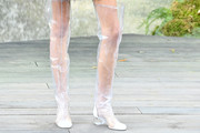 Kaia Gerber Over the Knee Boots