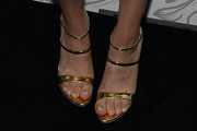 Kaley Cuoco Strappy Sandals