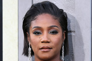 Tiffany Haddish Side Parted Straight Cut
