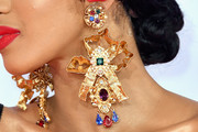 Cardi B Gold Chandelier Earrings
