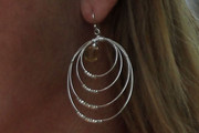 Paula Creamer Sterling Dangle Earrings
