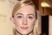 Saoirse Ronan Side Parted Straight Cut