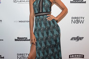 Lais Ribeiro Halter Dress