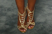 Kandi Burruss  Strappy Sandals