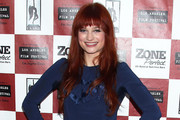 Alison Sudol Long Straight Cut with Bangs
