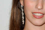 Rainey Qualley Dangling Diamond Earrings