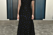 Amanda Peet Embroidered Dress