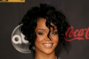 Rihanna Curled Out Bob