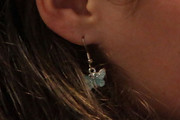 Amanda Knox Dangle Bird Earrings