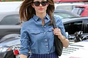 Emmy Rossum Denim Shirt