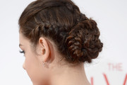 Odeya Rush Braided Bun