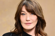 Carla Bruni-Sarkozy Medium Wavy Cut with Bangs