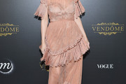 Kylie Minogue Fringed Dress
