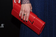 Carrie Coon Leather Clutch