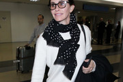 Courteney Cox Patterned Scarf