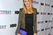 Jennifer Finnigan Leather Jacket