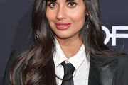 Jameela Jamil Long Wavy Cut with Bangs