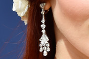 Madeline Brewer Diamond Chandelier Earrings