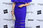 Mary Hart Off-the-Shoulder Dress