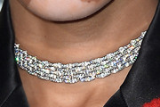 Winnie Harlow Diamond Choker Necklace