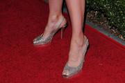 Lucy Lawless Peep Toe Pumps