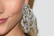 Karlie Kloss Dangling Diamond Earrings