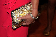 Kathleen McCrone Metallic Clutch