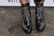 Padma Lakshmi Lace Up Boots