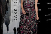 Katheryn Winnick Embroidered Dress